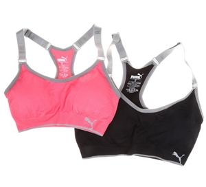 ca95a785d7 2 x PUMA Women`s Seamless Sports Bras with Removable Cups