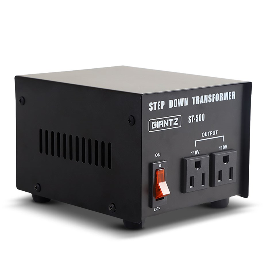 240v 110v Stepdown Transformer Converter 500w Black