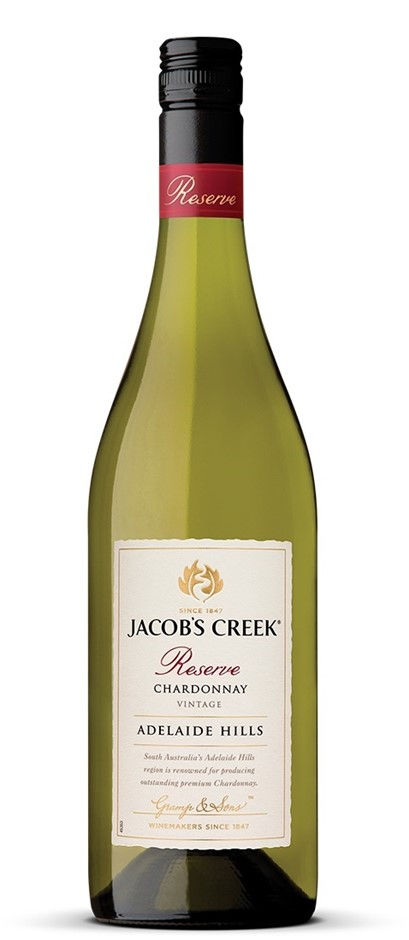 Jacob's Creek `Reserve` Chardonnay 2018 (6 x 750mL), Adelaide Hills, SA.