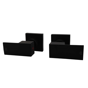 Square Matt Black Wall Top Assembles 1/4