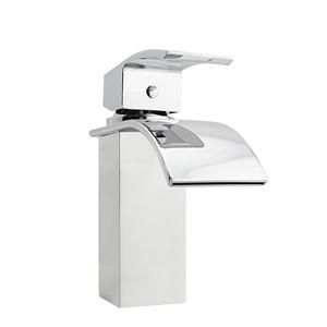 Square Waterfall Chrome Basin Mixer Tap