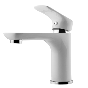 Luxury White&Chrome Basin Mixer Tap Bras