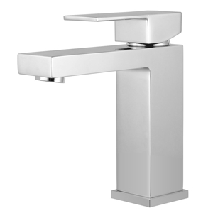 Square Chrome Basin Mixer Tap Brass Fauc