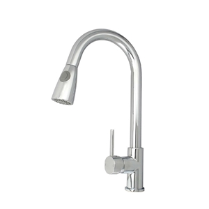 Chrome Round Pull Out Kitchen Mixer Tap