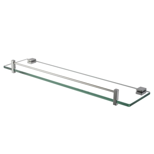 Bathroom Chrome Glass Shelf Cup Holder S