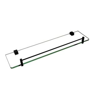 Bathroom Black Glass Shelf Cup Holder Sh