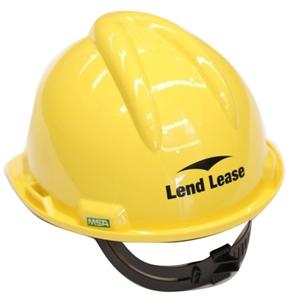 6 x MSA V-Gard Hard Hats, 4-Point Harness & Sweatband
