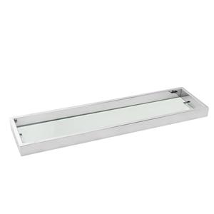 Bathroom Square Chrome Glass Shelf Holde