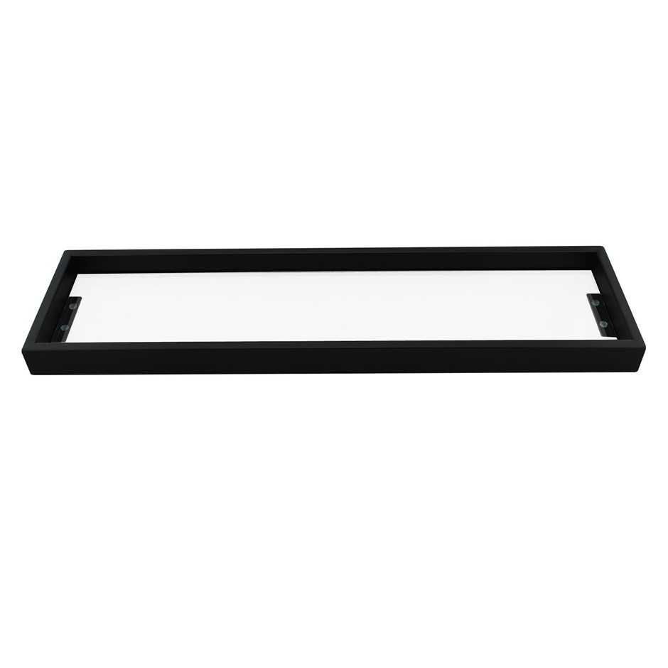 Bathroom Square Matt Black Glass Shelf Holder Shower Storage 522mm