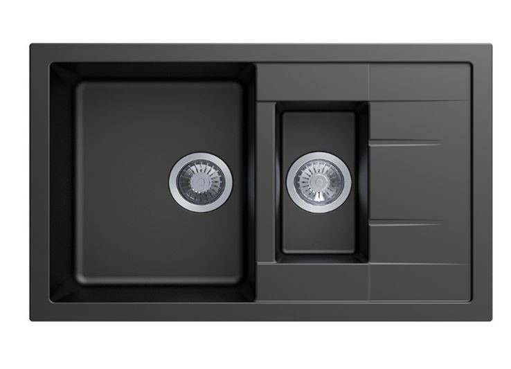 Carysil Mozzard Black 1 and 1/4 Granite Kitchen Sink