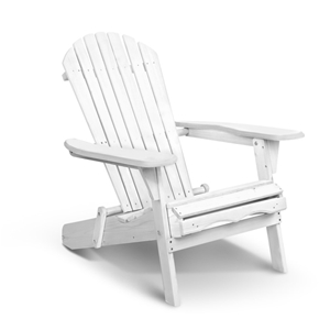 Gardeon Foldable Adirondack Chair - Whit