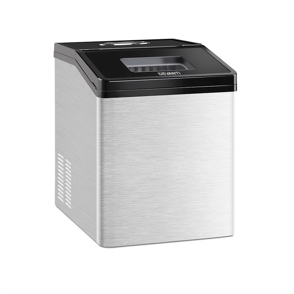 Devanti Commercial 3KG Ice Maker - Stainless Steel