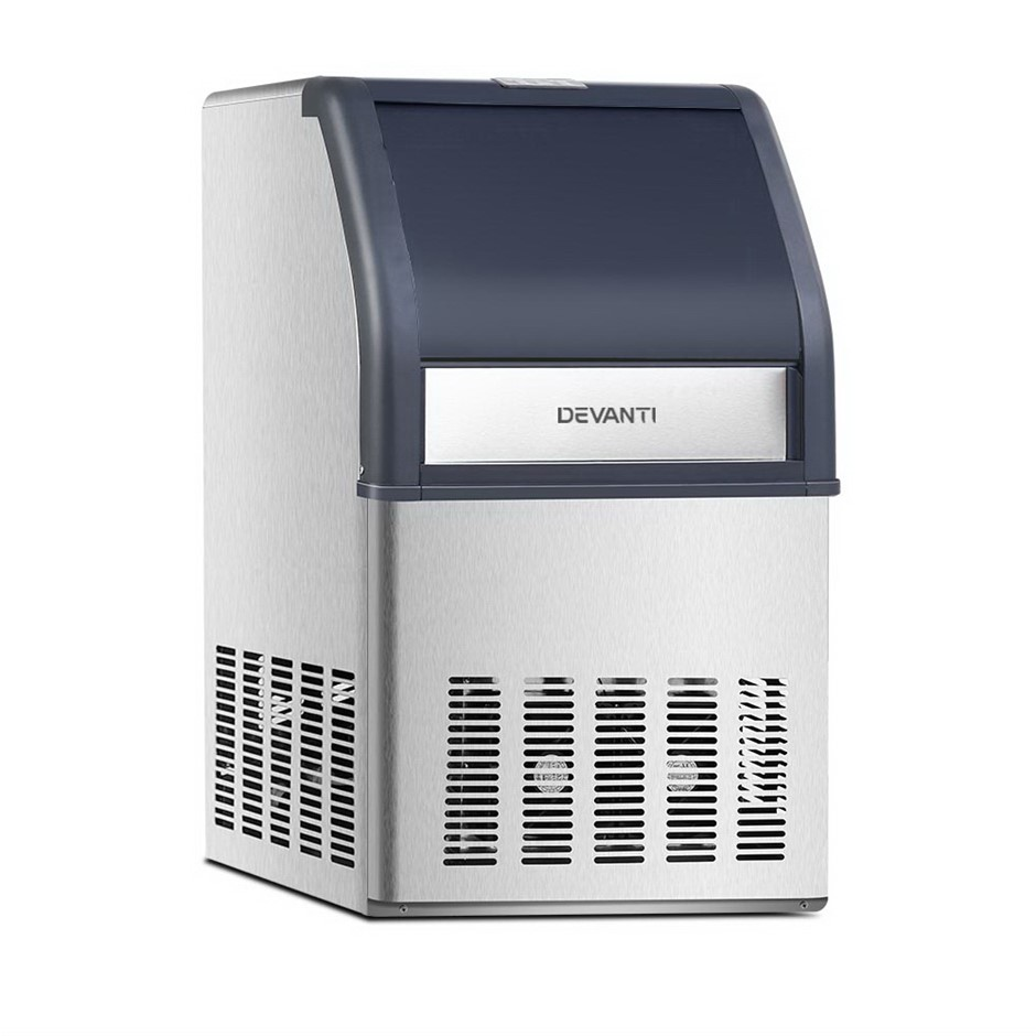 Devanti Commercial 10KG Ice Maker - Stainless Steel