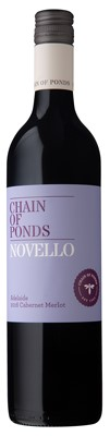 Chain of Ponds `Novello` Cabernet Merlot 2016 (12 x 750mL), Adelaide, SA.