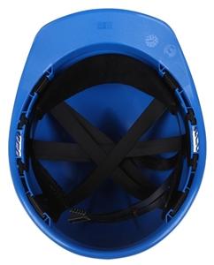 5 x MSA V-Gard Hard Hat, Blue with Sweatband & 6-Point Head