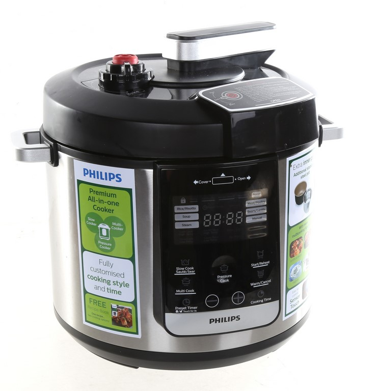PHILLIPS Premium All-in-One Cooker, 6L Capacity, 6.5kg & 2 x Stainless Stee