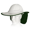12 x SNAP BRIM Plastic Sun Protection Brims with Neck Flap, White/Dark Gree