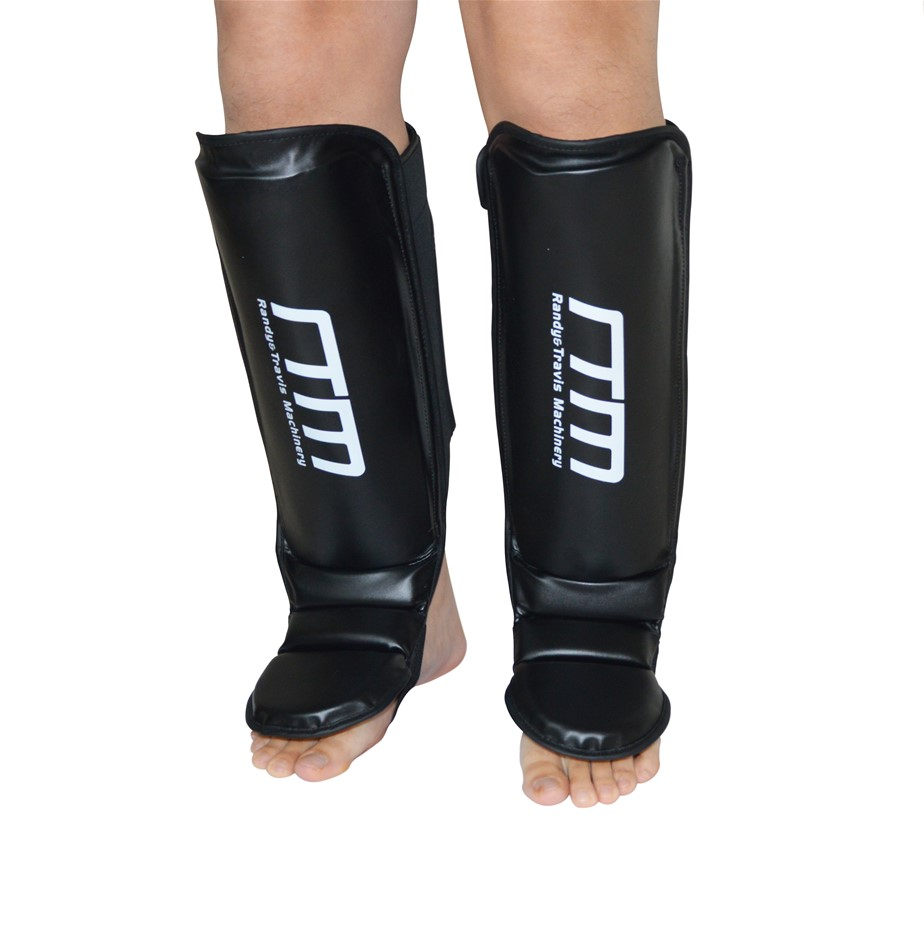 Gel Shin Instep Foot Pads MMA UFC Leg Kick Guards Muay Thai Boxing - Large