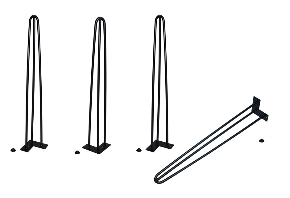 Set of 4 Industrial Retro Hairpin Table Legs 12mm Steel Bench Desk 71cm Leg