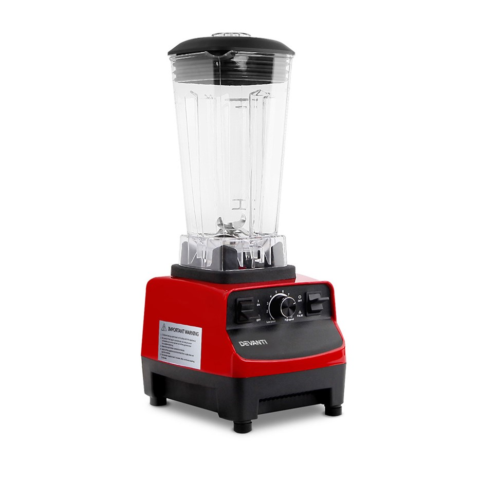 5 Star Chef Commercial Food Processor Blender - Red