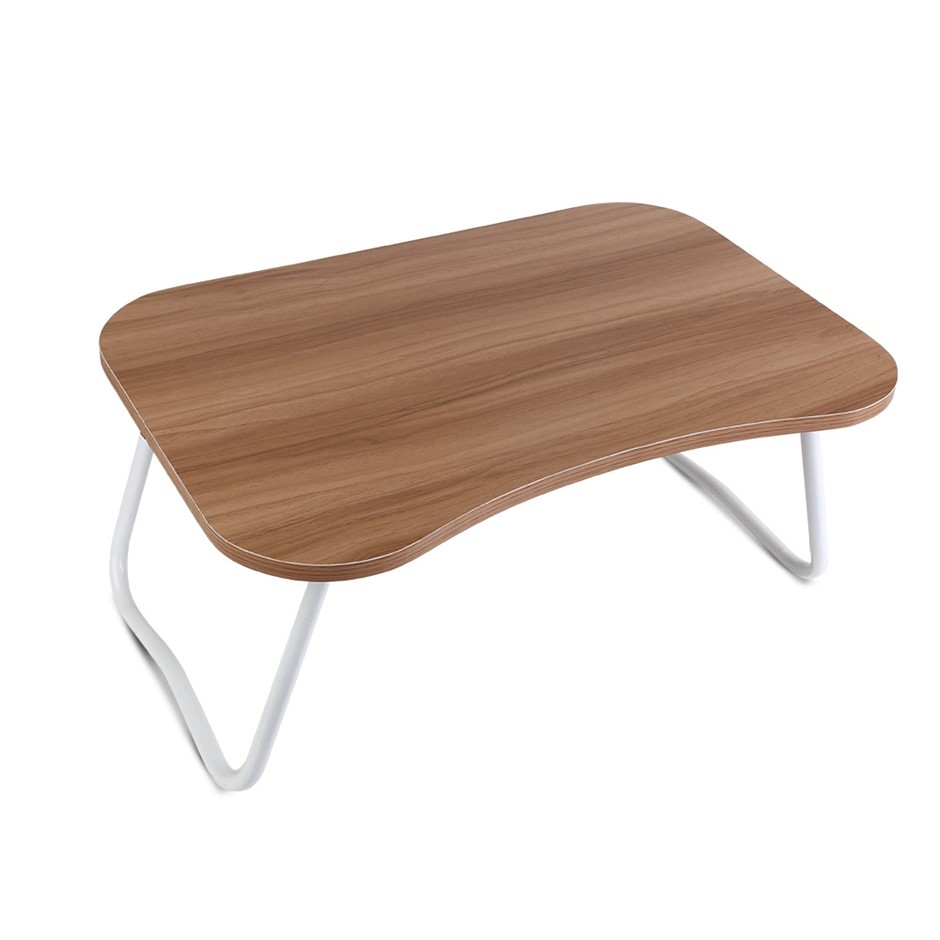 Portable Bed Tray Table PC Folding Laptop Desk Stand Light Wood