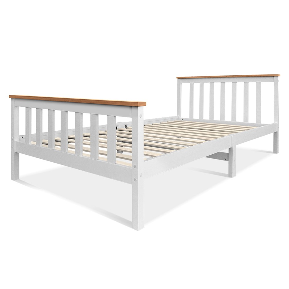 Artiss King Single Wooden Bed Frame PONY Timber Mattress Base Bedroom Kids