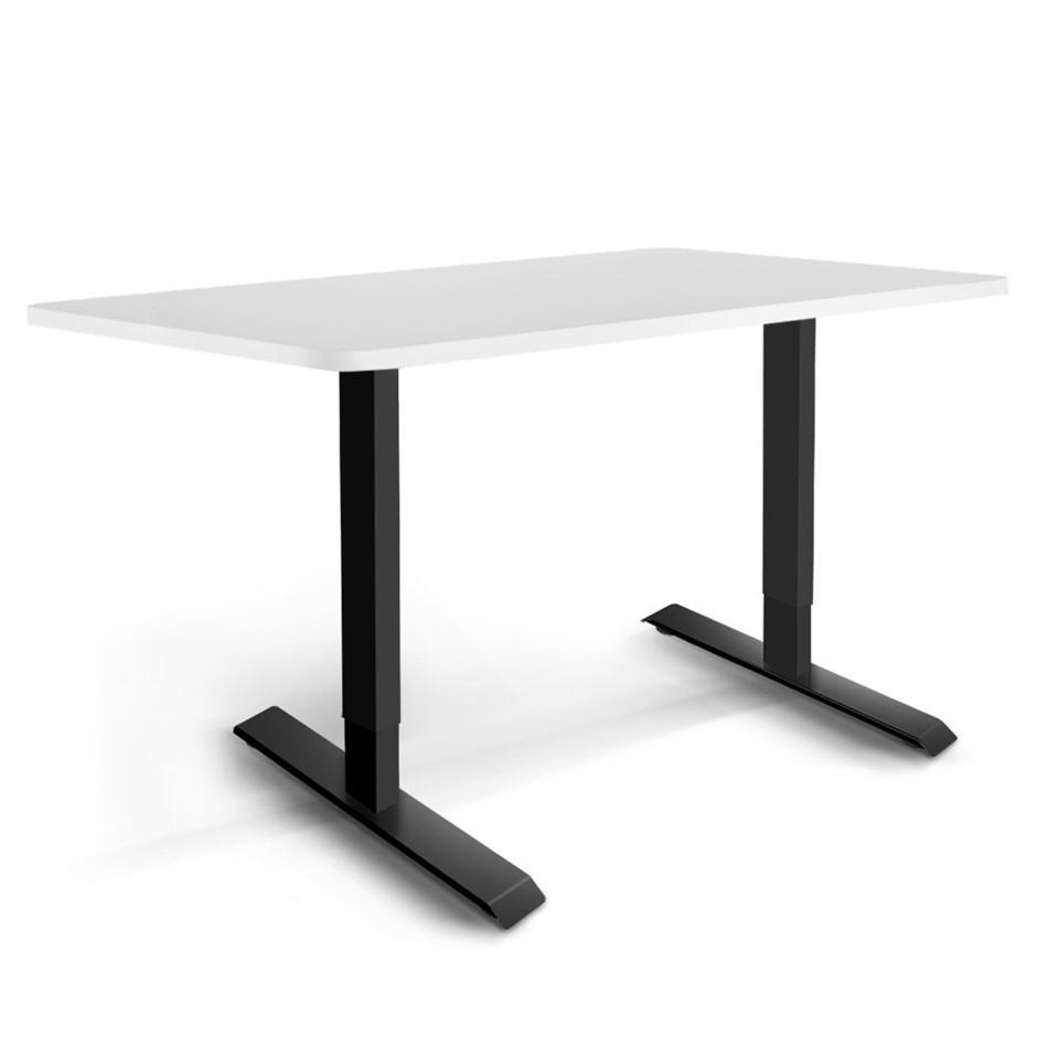Artiss Motorised Electric Height Adjustable Standing Desk Black White
