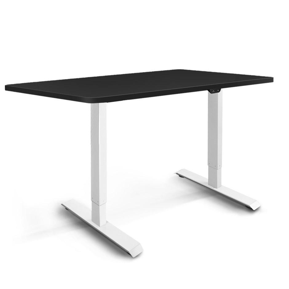 Artiss Motorised Electric Height Adjustable Standing Desk White Black