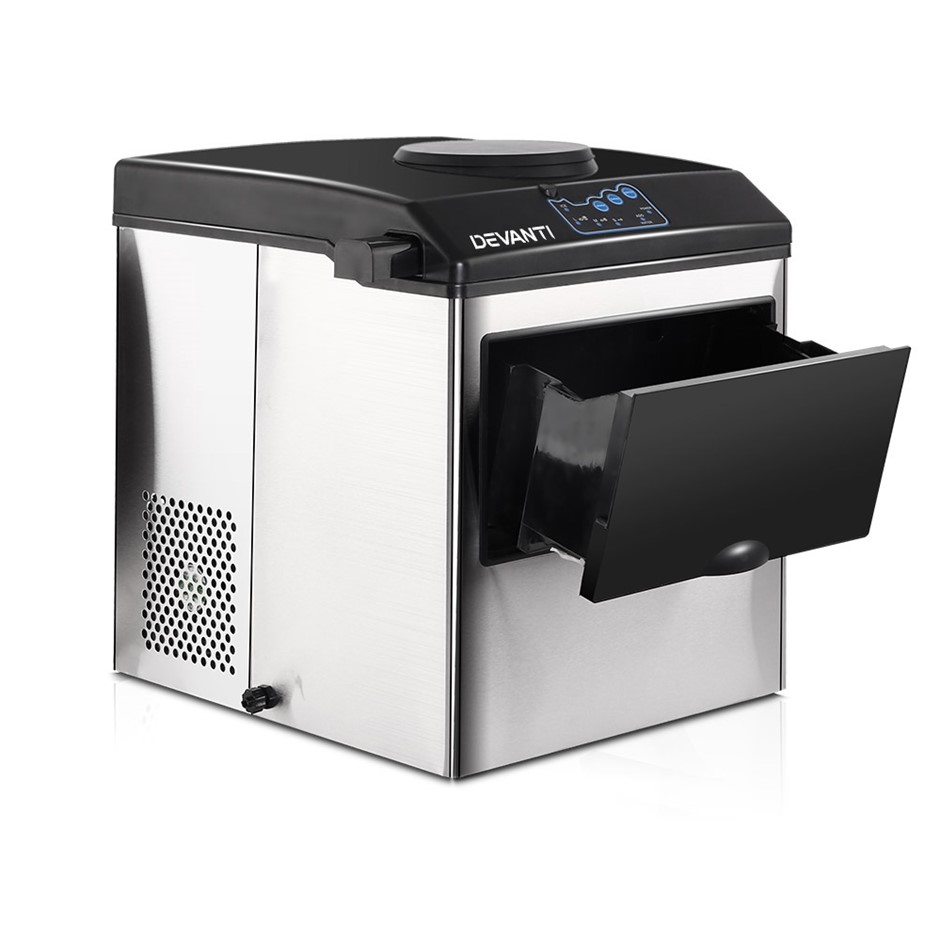 DEVANTi Portable Commercial Ice Cube Maker Water Dispenser Easy Home