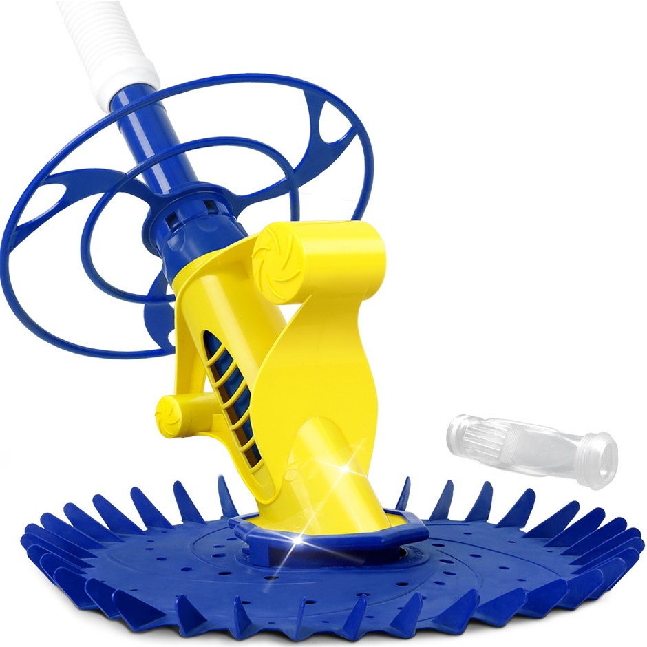 Aquabuddy Pool Cleaner Floor Climb Automatic Vacuum 10M Hose Yellow Blue