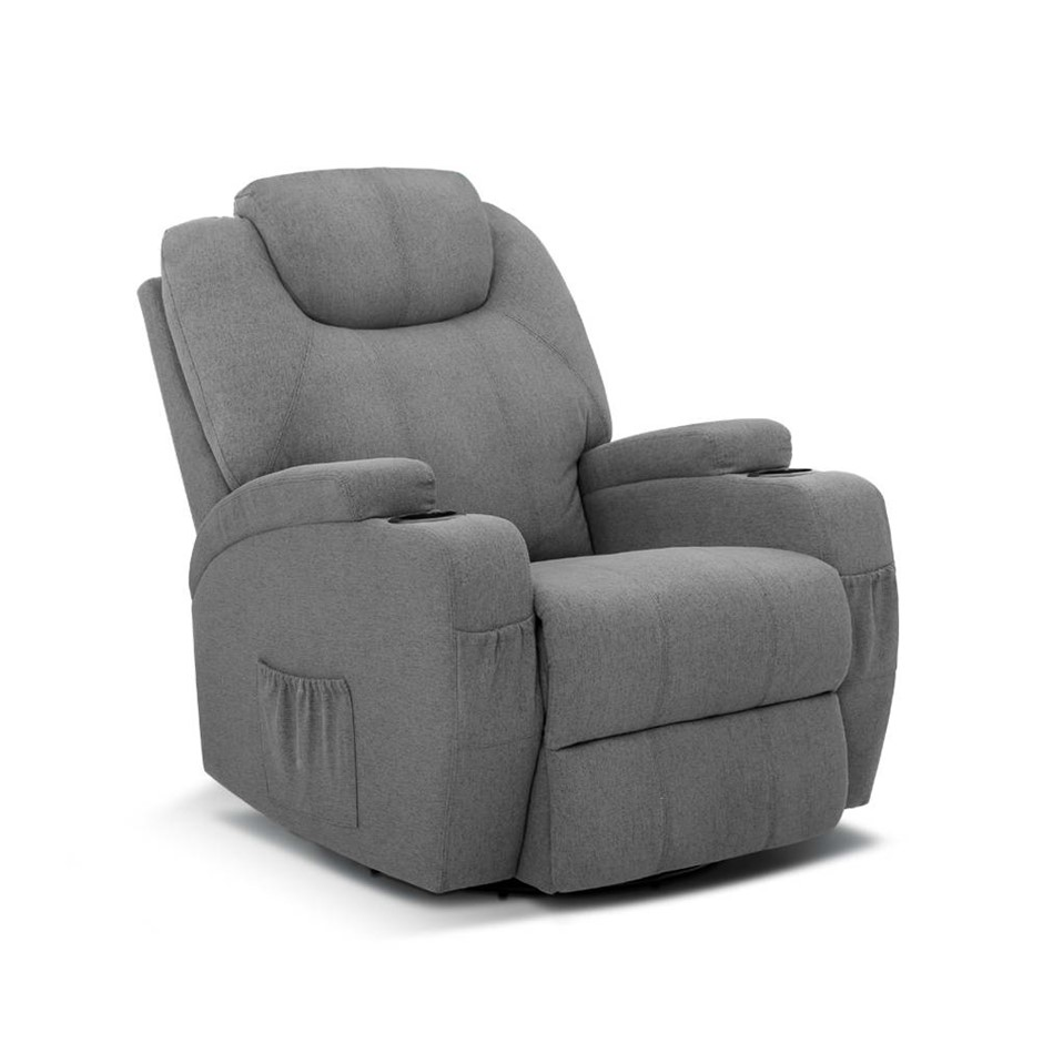 Artiss Massage Sofa Chair Recliner Electric Swivel Lounge 8 Point Heated