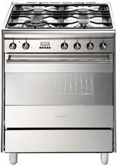 Smeg 60cm Gas/Electric Freestanding Cooker, Model: FS61XNG8