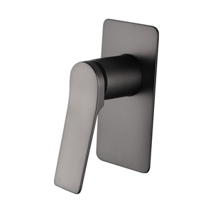 Brushed Gunmetal Grey Shower Wall Mixer