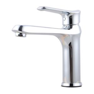 Bathroom Brass Chrome Short Basin Mixer