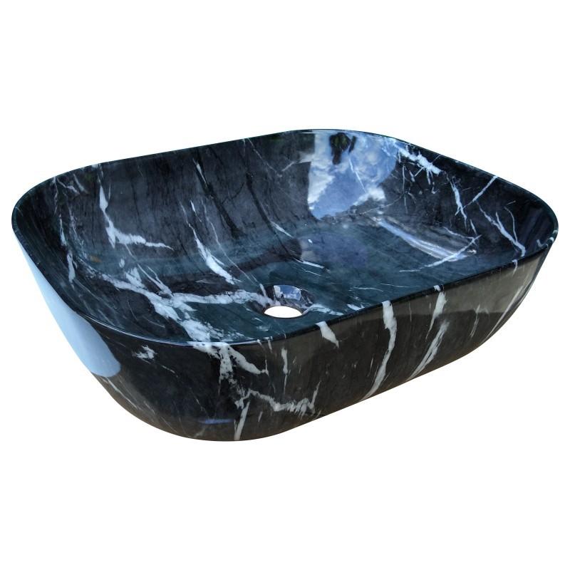 485 x 395 x 145mm Bathroom Rectangle Above Counter Ceramic Wash Basin