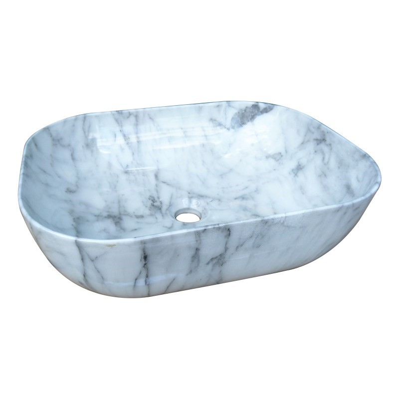 485 x 395 x 145mm Modern Rectangle Above Counter Ceramic Wash Basin