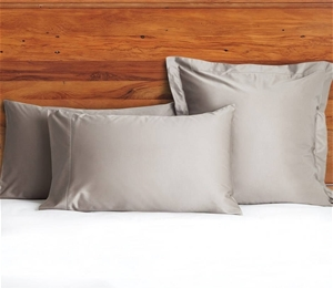 1200 TC European Pillow Cases Taupe x 2