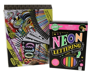 Zap Extra Neon Lettering Kit Crayola Art With Edge Set N B Some Parts Auction Graysonline Australia
