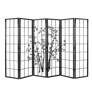 Remarkable Artiss 6 Panel Room Divider Screen Privacy Pine Wood Stand Shoji Bamboo Home Interior And Landscaping Analalmasignezvosmurscom