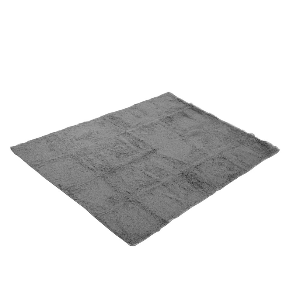 Artiss 140x200cm Soft Shaggy Rug Large Floor Carpet Anti-slip Rugs Grey