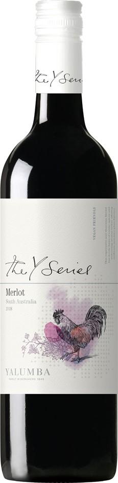 Yalumba `Y Series` Merlot 2018 (12 x 750mL), SA.