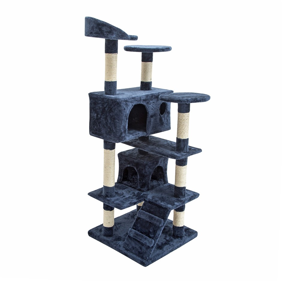 Cat Tree Scratcher SOHO 132cm - BLUE