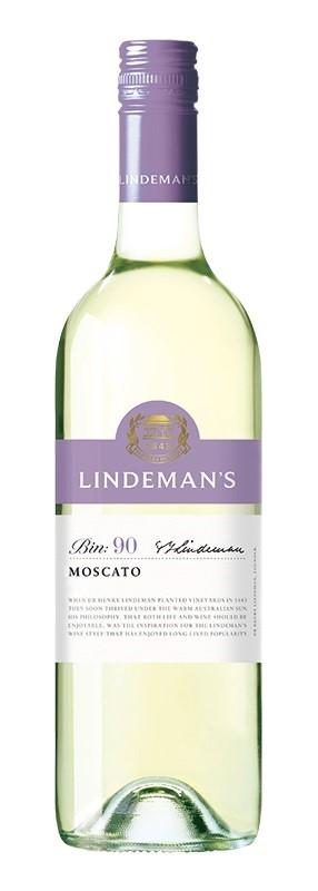 Lindeman's `Bin 90` Moscato 2018 (6 x 750mL), SE AUS.