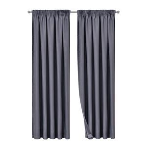 Artqueen 2x Pinch Pleat Blockout Curtain