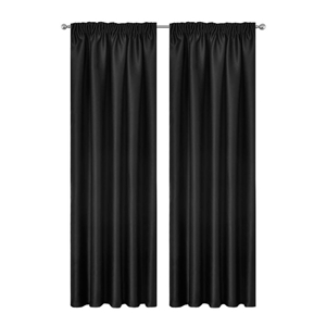 Artqueen 2x Pleated Blackout Blockout Cu