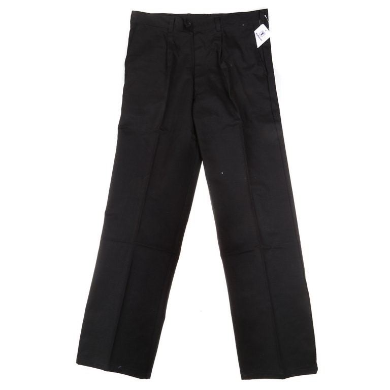 2 x TUFFWEAR Cotton Drill Trousers, Size 112R, Black. Buyers Note - Discoun