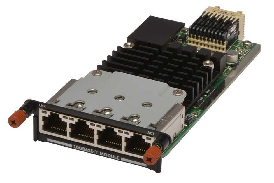 Dell Quad Port 10GBase-T Server Module, Hot Swap, 4x 10GBase-T ports (RJ45)