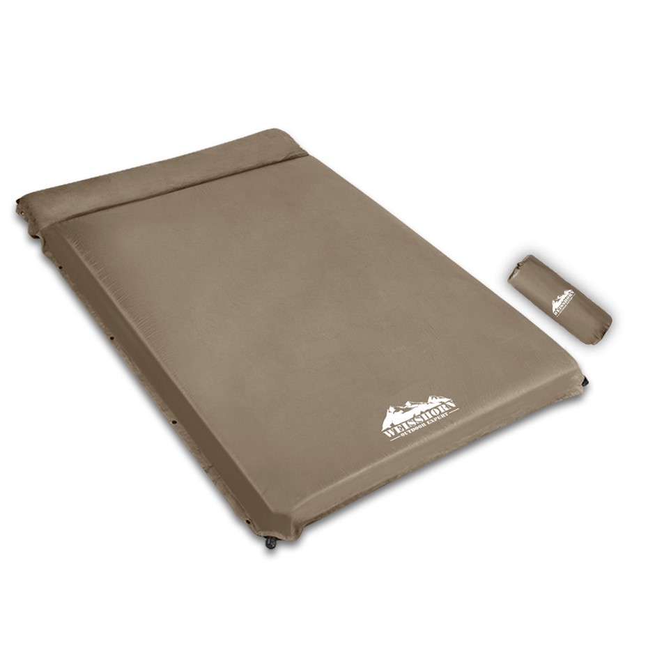 WEISSHORN Double Self inflating Mattress Mat Coffee