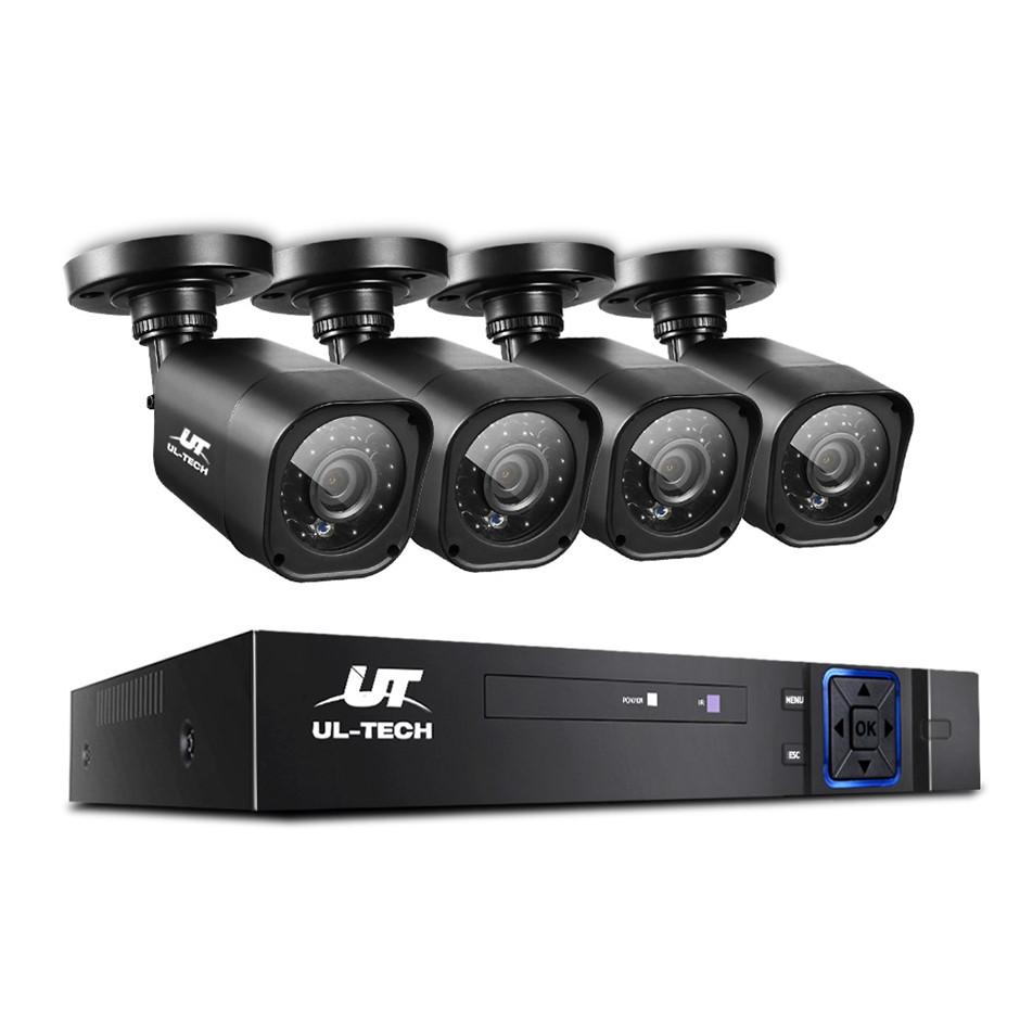 CCTV Security 4 Cameras 1080P HDMI 8CH DVR Video Home Outdoor IP System