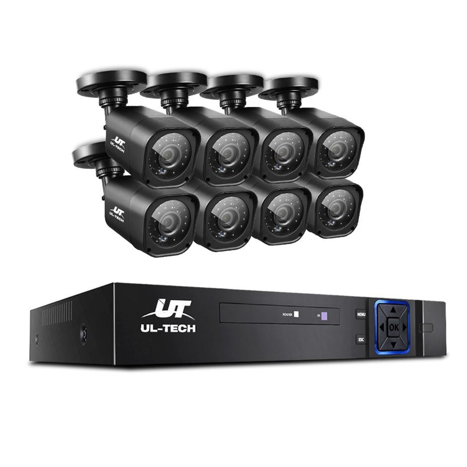 CCTV Security 8 Cameras 1080P HDMI 8CH DVR Video Home Outdoor IP System